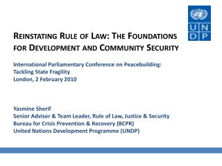 Rule Of Law - An Integrated Approach To Justice And Security