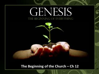 The Beginning of the Church – Ch 12