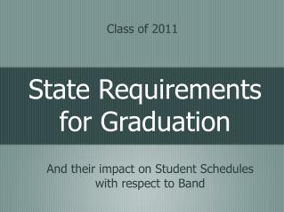 State Requirements for Graduation