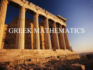 GREEK MATHEMATICS
