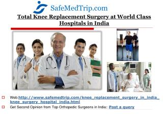 Total Knee Replacement Surgery Hospitals in India