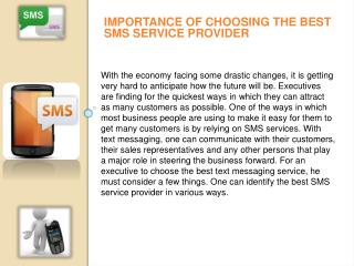 Importance of choosing the best SMS service provider