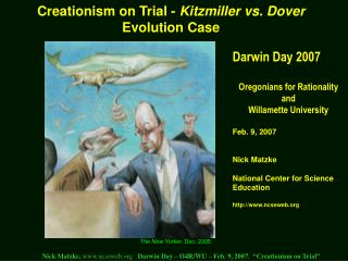 Creationism on Trial -  Kitzmiller vs. Dover  Evolution Case