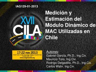 Medición y Estimación del Módulo Dinámico de MAC Utilizadas en Chile