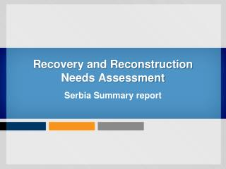 Recovery and Reconstruction  Needs Assessment