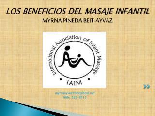 LOS BENEFICIOS DEL MASAJE INFANTIL MYRNA PINEDA BEIT-AYVAZ