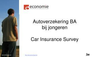 Autoverzekering BA  bij jongeren Car Insurance Survey