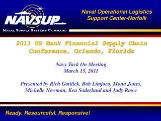 2011 US Bank  Financial Supply Chain Conference, Orlando, Florida Navy Tack On Meeting
