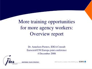 More training opportunities  for more agency workers:  Overview report
