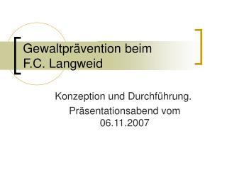 Gewaltpr�vention beim F.C. Langweid