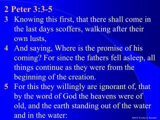 2 Peter 3:3-5