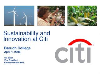 Sustainability and Innovation at Citi
