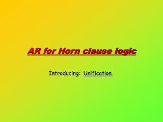 AR for Horn clause logic