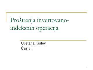 Pro širenja invertovano-indeksnih operacija