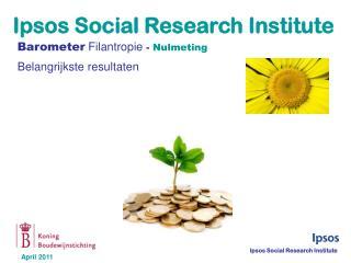 Barometer Filantropie  -  Nulmeting Belangrijkste resultaten