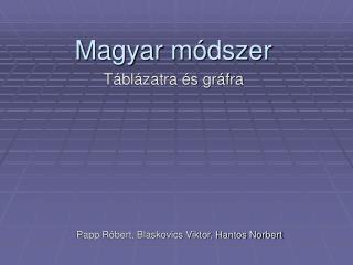 Magyar módszer