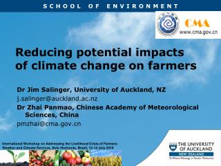 Reducing potential impacts of climate change on farmers