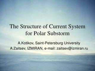 The Structure of Current System for Polar Substorm