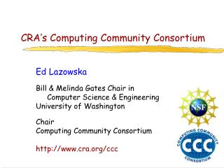 CRA's Computing Community Consortium