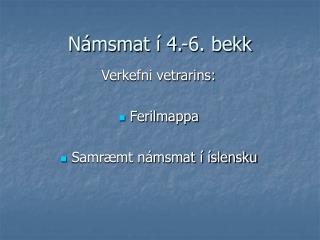 N�msmat � 4.-6. bekk