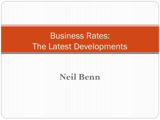 Business Rates: The Latest Developments