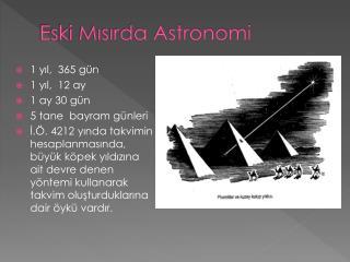 Eski Mısırda Astronomi