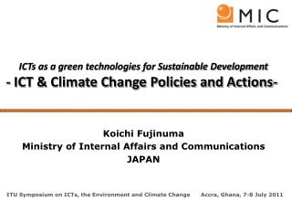 ICTs as a green technologies for Sustainable Development