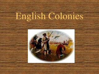 English Colonies