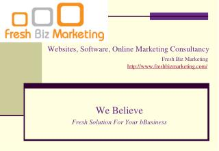 High quality marketing consultancy service