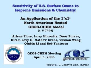 Sensitivity of U.S. Surface Ozone to Isoprene Emissions & Chemistry: An Application of the 1°x1 °