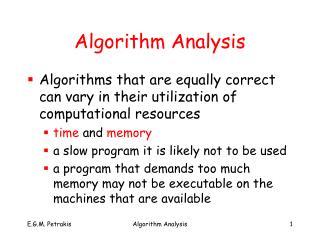 Algorithm Analysis