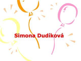 Simona Dudíková