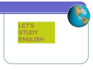 LET'S STUDY ENGLISH