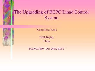 The Upgrading of BEPC Linac Control System