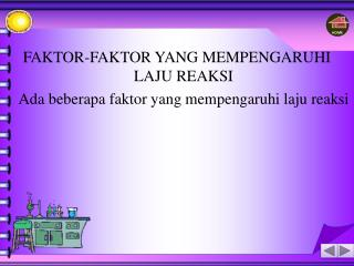 faktor-faktor yang mempengaruhi laju reaksi