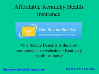 Kentucky Health Insurance - One Source Benefits