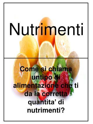 Nutrimenti