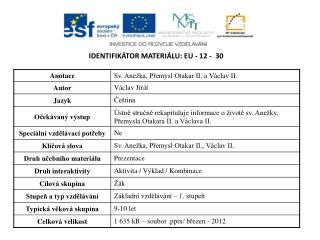 Identifikátor materiálu:  EU -  12  -   30