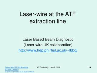 Laser-wire at the ATF extraction line
