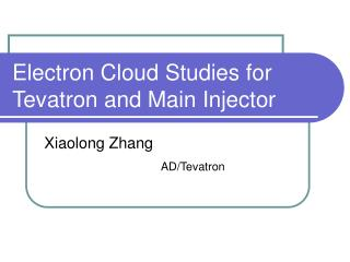 Electron Cloud Studies for Tevatron and Main Injector