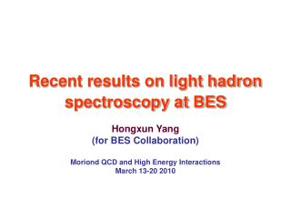 Recent results on light hadron spectroscopy at BES