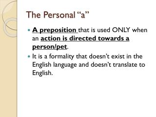 "The Personal ""a"""
