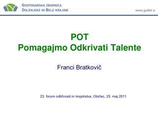 POT Pomagajmo Odkrivati Talente