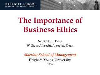 The Importance of Business Ethics