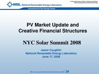 PV Market Update and  Creative Financial Structures