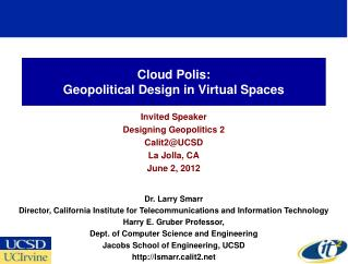 Cloud Polis: Geopolitical Design in Virtual Spaces