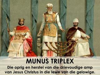 MUNUS TRIPLEX Die oprig en herstel van die drievoudige amp