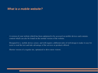 Do You Need A Mobile Website For Your Business?