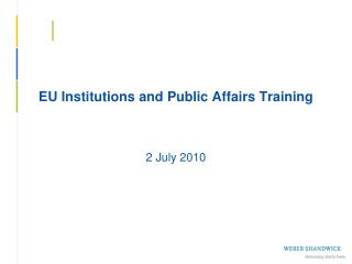 EU Institutions and Public Affairs Training