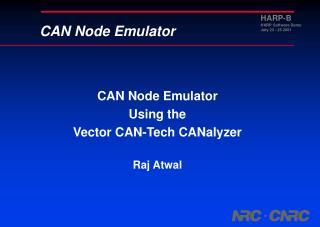 CAN Node Emulator